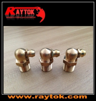 Grease nipple brass 1/8BSP 90degree