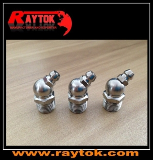 M12x1x45D stainless steel grease nipple