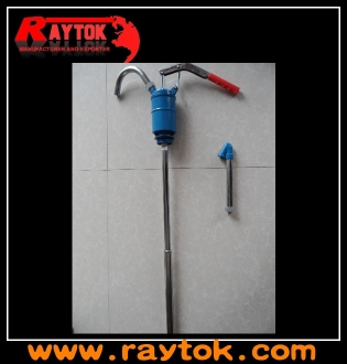 Hand oil barrel pump