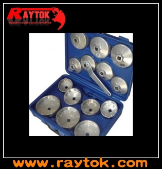 15PC cup type oil filter wrench